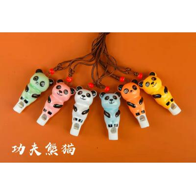 【熊猫】小号卡通陶瓷口哨KS227