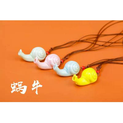 【蜗牛】小号卡通陶瓷口哨KS232