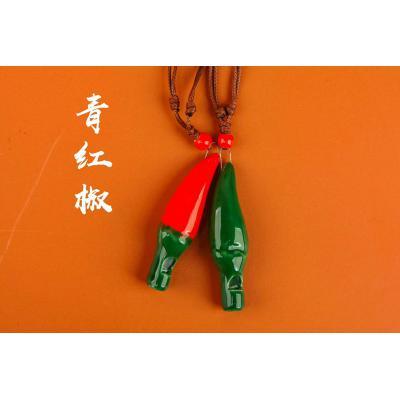 【辣椒】小号卡通陶瓷口哨KS235