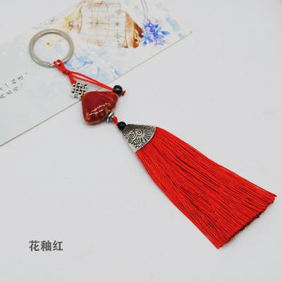 陶瓷贝壳流苏钥匙扣