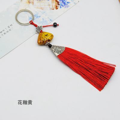 陶瓷贝壳流苏钥匙扣挂件